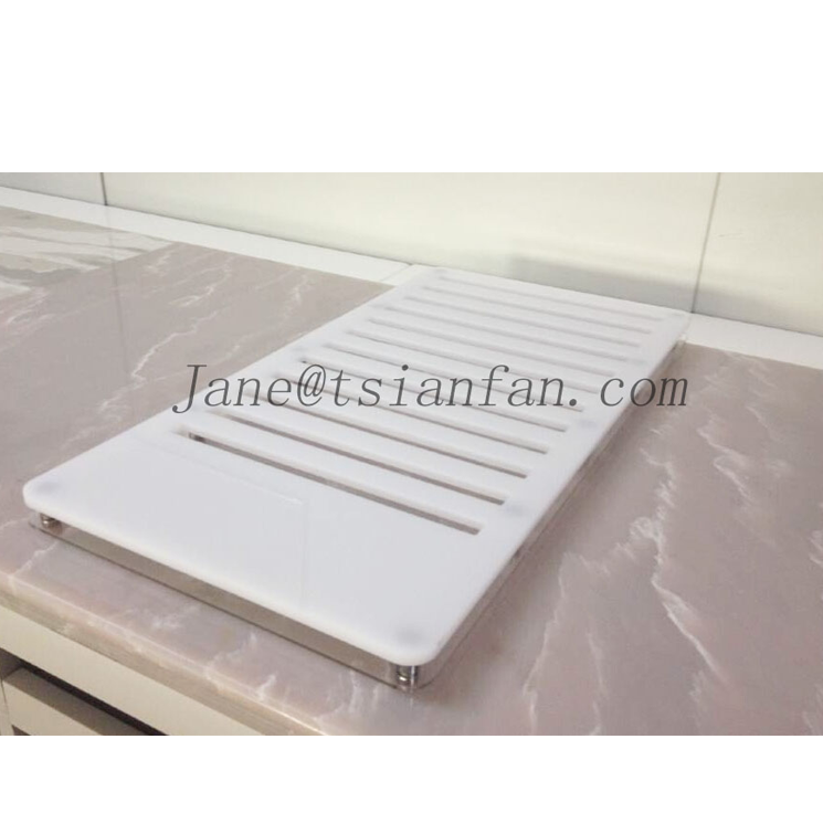 SRS006 Quartz Stone Sample Stand, Solid Surface Sample Rack , Timber Sample Display