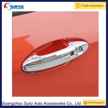 Abs Chrome Exterior Door Handle Cover Sticker For Ford Ecosport2014