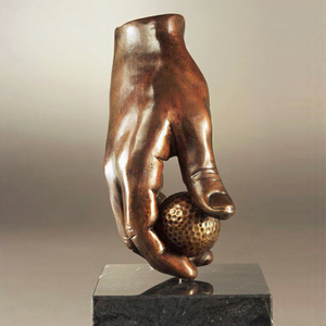 Abstract Golf Hand Metal statues Bronze Sculpture for Sale