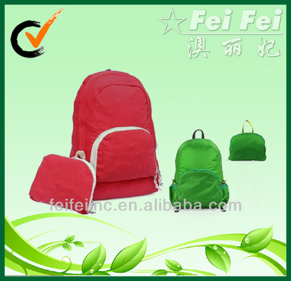 Eco-friendly 210D Polyester Backpack Foldable