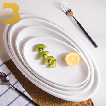 Western 5 star hotel french design thick rim big size oval dinner plate : dinner plate in french - pezcame.com