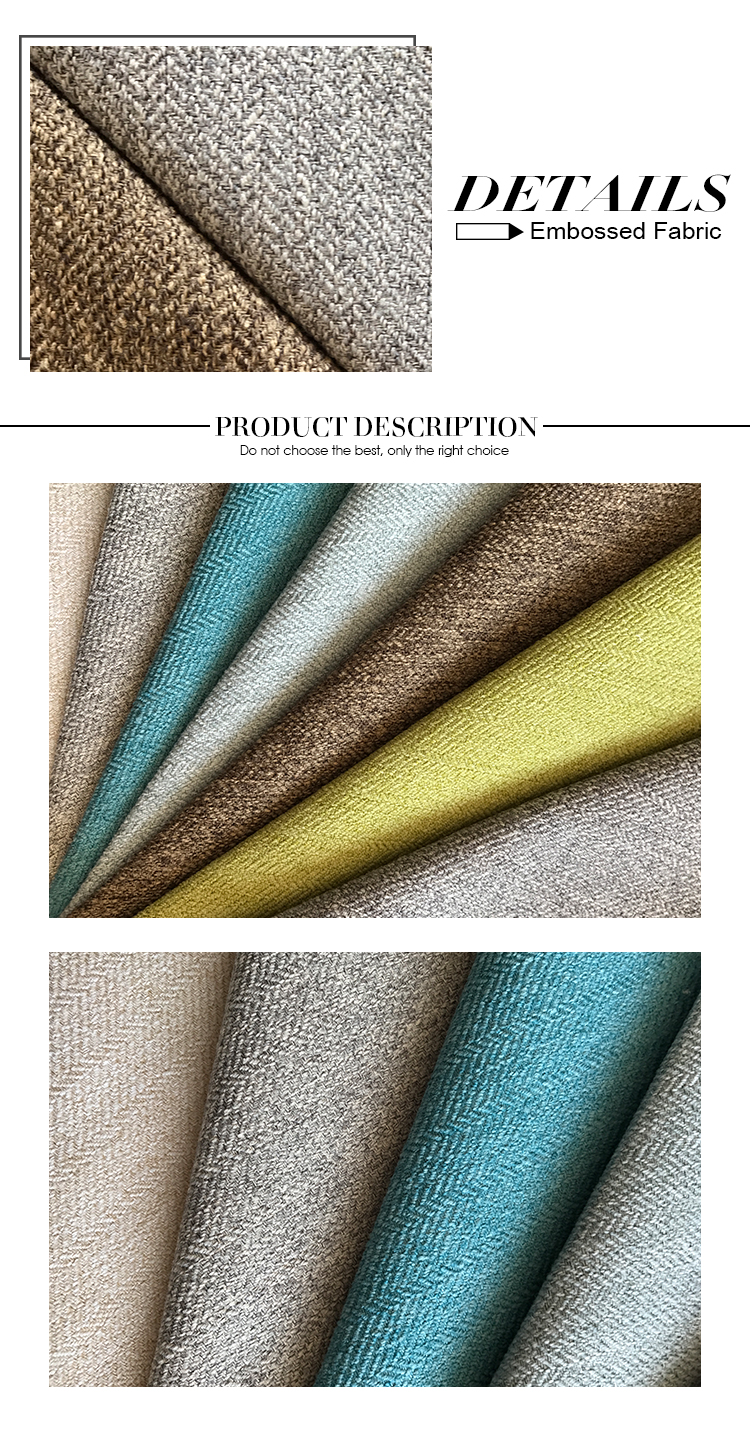 100% polyester linen upholstery cloth material fabric for home textile