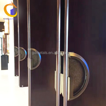 Hotel Apartment Main Gate Custom Design 304 Stainless Steel Safety Entry Front Door.