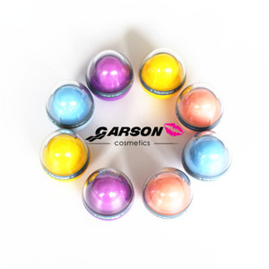 Hot Cake OEM Garson Cosmetics Private Label Cute Round Ball Lip Balm Fruit Flavors Moisturizing Nourishing egg shape lip balm