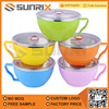 Freshness Colored Stainless Steel Mixing Bowl Set With Cover