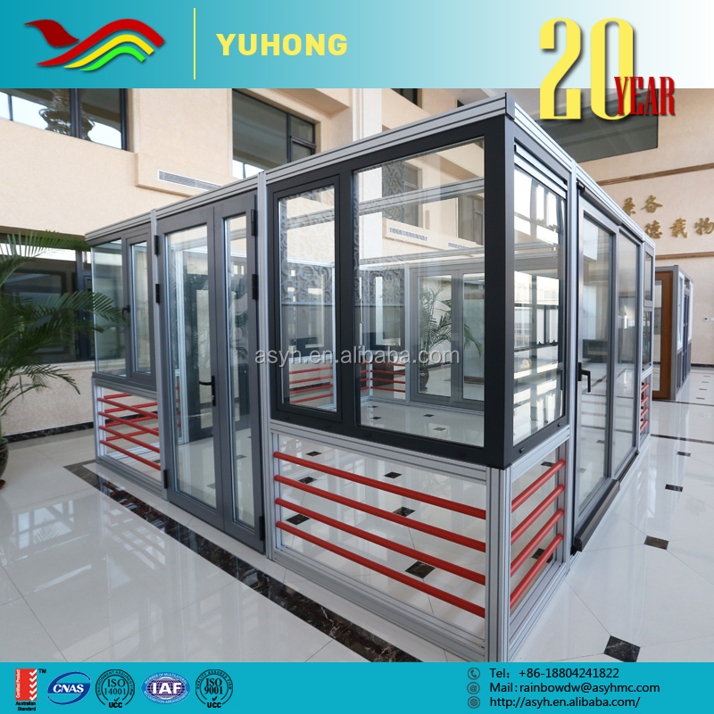 YH China supplier plant customized design drawings used commercial sliding upvc window and door