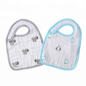 Muslin 100% Cotton Adjustable Collar Size Baby Bibs