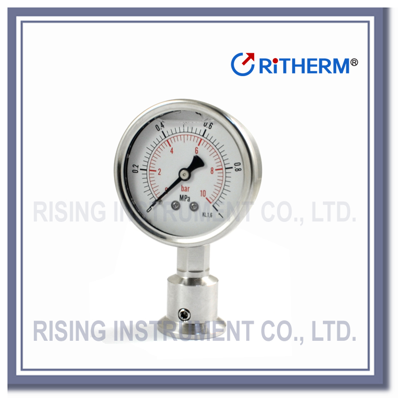 Threaded Diaphragm Seal Pressure Gauge liquid filled Pressure Gauge