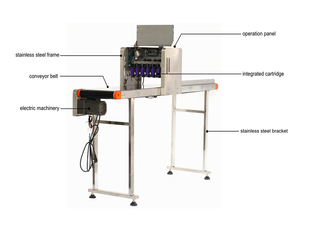 KP-19 Model 600DPI High Resolution Egg Stamping Machine Applicable to Whole Tray Eggs