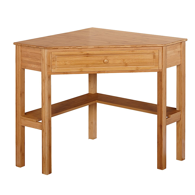 Bamboo Wooden Corner Office Table