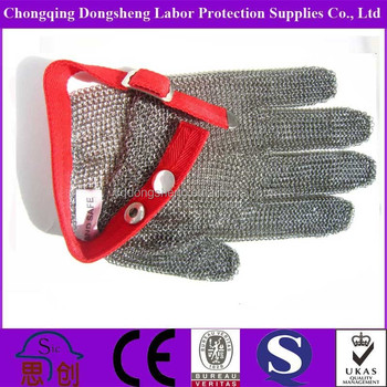 Wholesale ANSI level 5 Anti Cut stainless steel mesh glove for ...