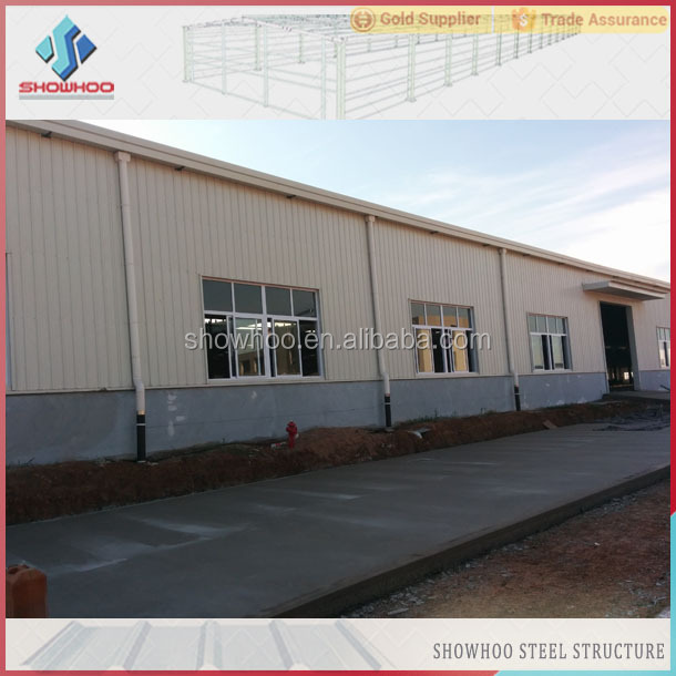 Showhoo Supplier Prefabricated Warehouse Building Light Steel Roof  Construction Structures - Buy Prefabricated Steel Structures,Light Steel
