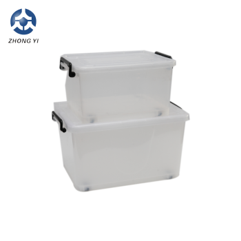 2018 Heavy Duty 70L Nestable & Stackable Plastic Storage Boxes For Moving