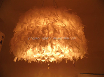 White feather lamp shade for home and room decorative ceiling white feather lamp shade for home and room decorative ceiling lighting covers aloadofball Image collections