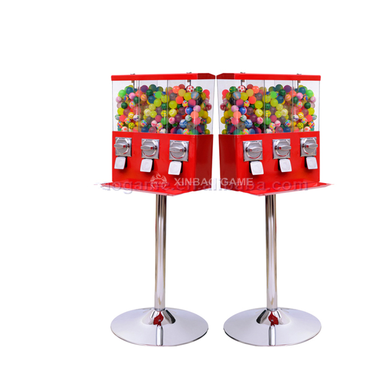 3 in 1 China Candy Vending Maschine Spender Candy Spielzeug Gumball Maschinen