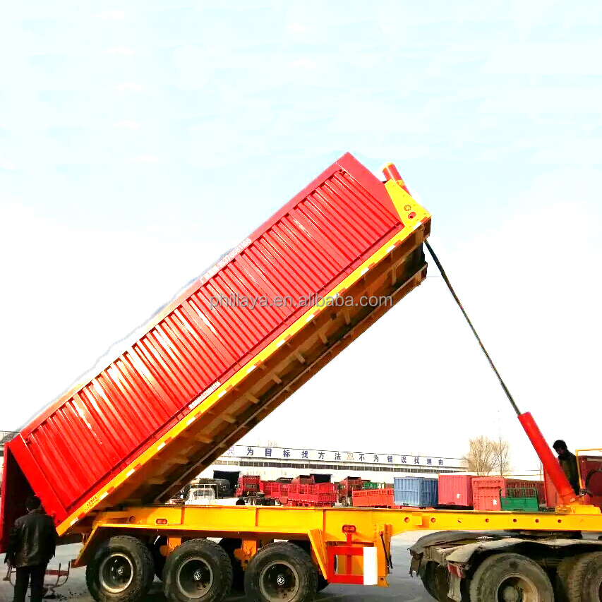 2018 offer 35TONS 20ft tipper dump container trailer chassis (40ft container tipperchassis available)