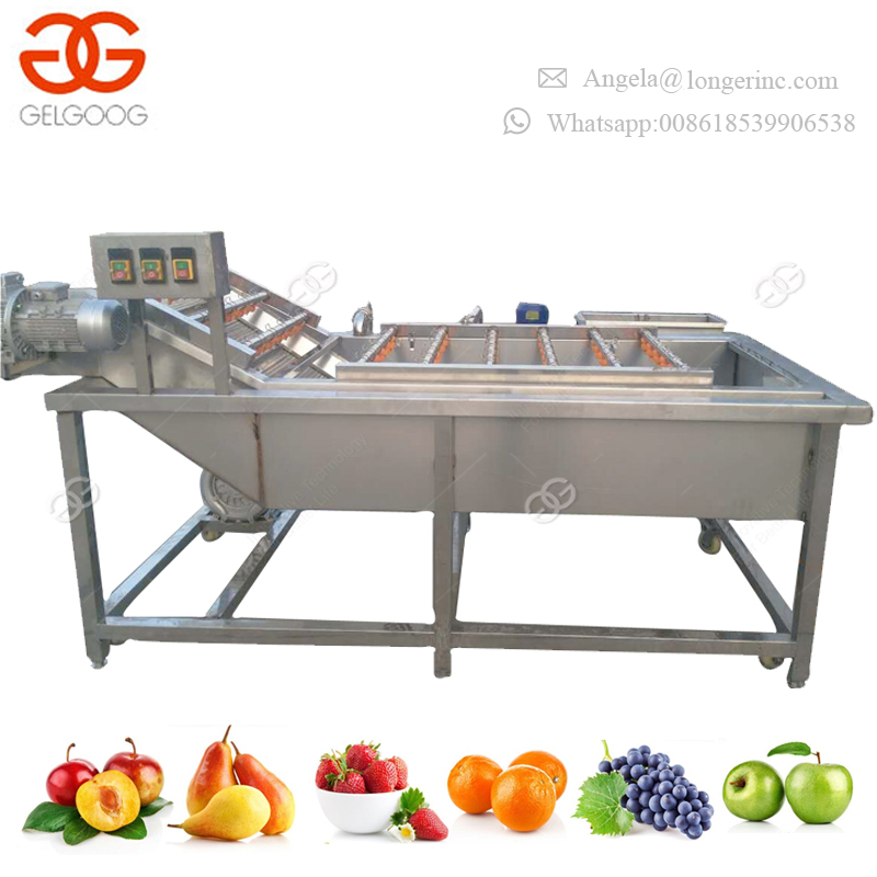 Fully Automatic Vegetable Cleaning Machine Greens Mushroom Salad Potato Washing Machine