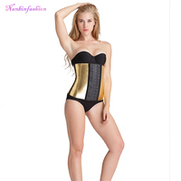 Top quality best golden latex big hooks corsets for busty women