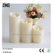 citronella votive candles christmas ornament Real Wax Flicker Flameless Pillar LED Candle products(WM-105)