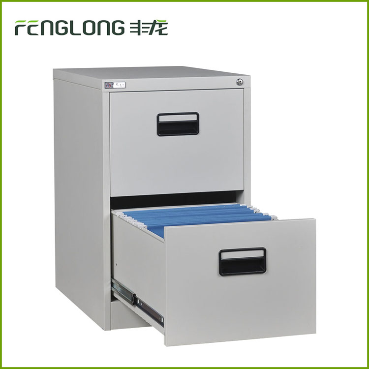 Office equipment plastic handle 2 drawer filing cabinet steel lateral storage modular filing cabinet
