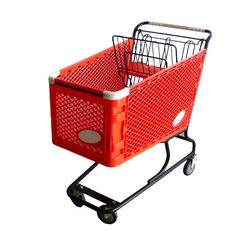 Have stock! Steel European style collapsible foldable plastic shopping cart/Recyclable cheap price high quality plastic trolley