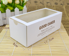 new products packaging box wax coated paper food box with window
