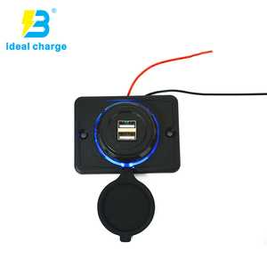 original factory dual port bus car charger for bus/boat/car install on seat