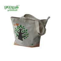 Hot sale customized Logo canvas material tote shopping canvas bag