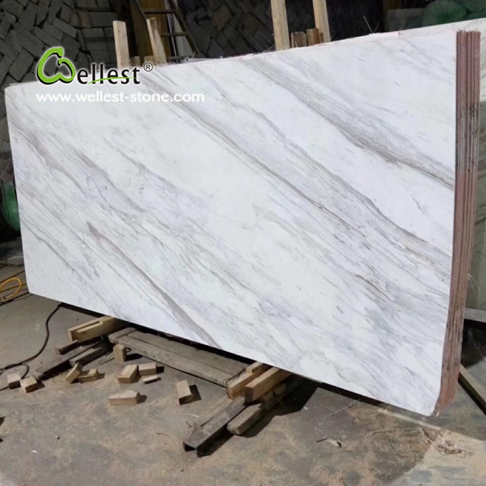 polished finish white volakas granite slabs for sale