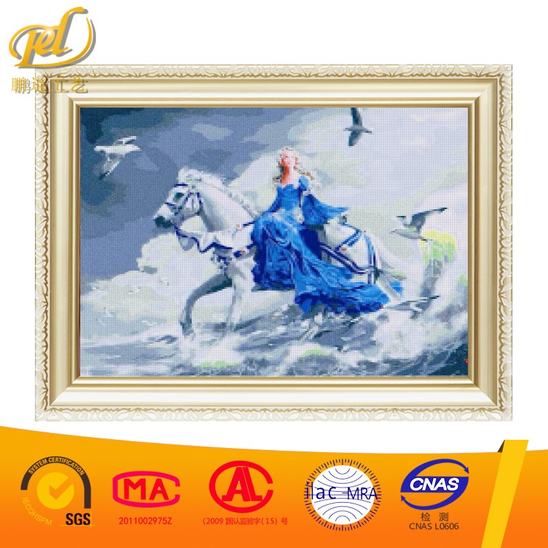 Princess and White Horse Diy Crystal Diamond Embroidery Painting Unfinished Nail Arts for Home Decoration Wall a220