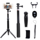Bluetooth Remote +Selfie Stick Tripod+ Monopod + 3 in 1 Handheld Extendable Selfie Stick