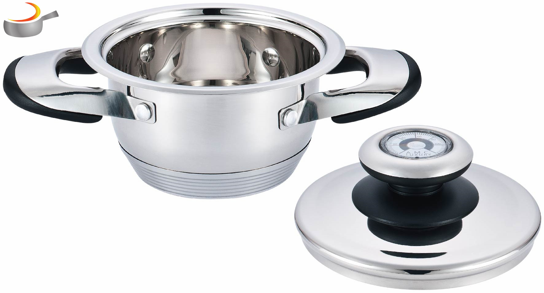 Hot sale 24pcs surgical stainless steel induction kitchen cookware set cooking pot