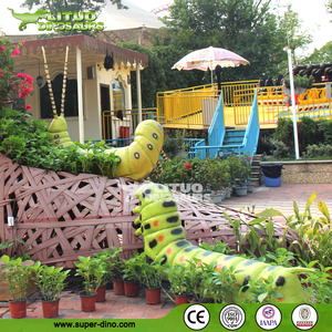 Playground Attractions Large Size Moving Rubber Insects
