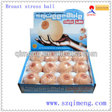 Soft squeezable breast ball toy