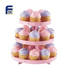Decorative Folding Disposable Cheap Price Cardboard Paper Cake Stand