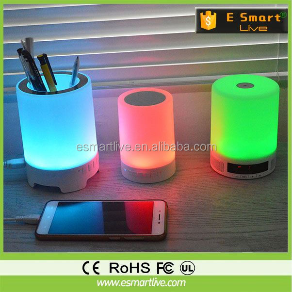 2014 New Mushroom wireless LED table lamp with mini speaker for young people