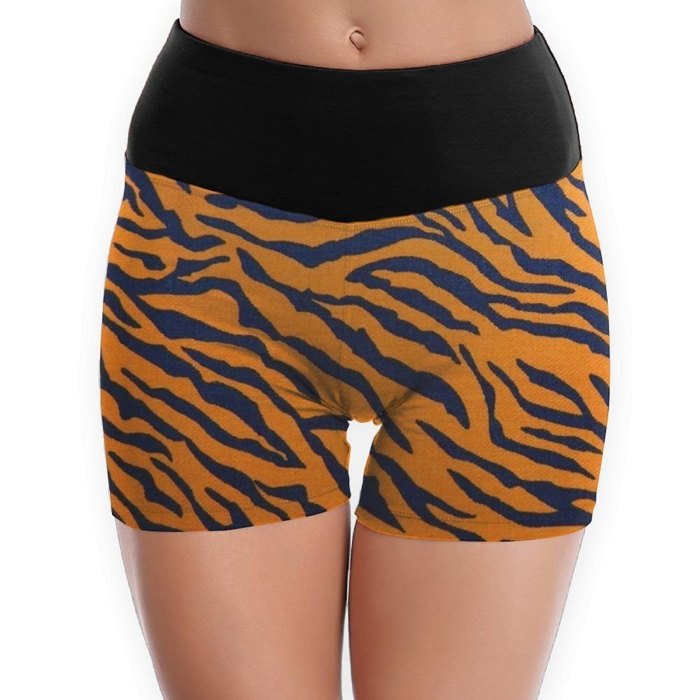 84a583ff9f6 Get Quotations · Tiger Print Animal Print Cool Yoga Shorts For Women Tummy  Control Workout Running Shorts Pants Yoga