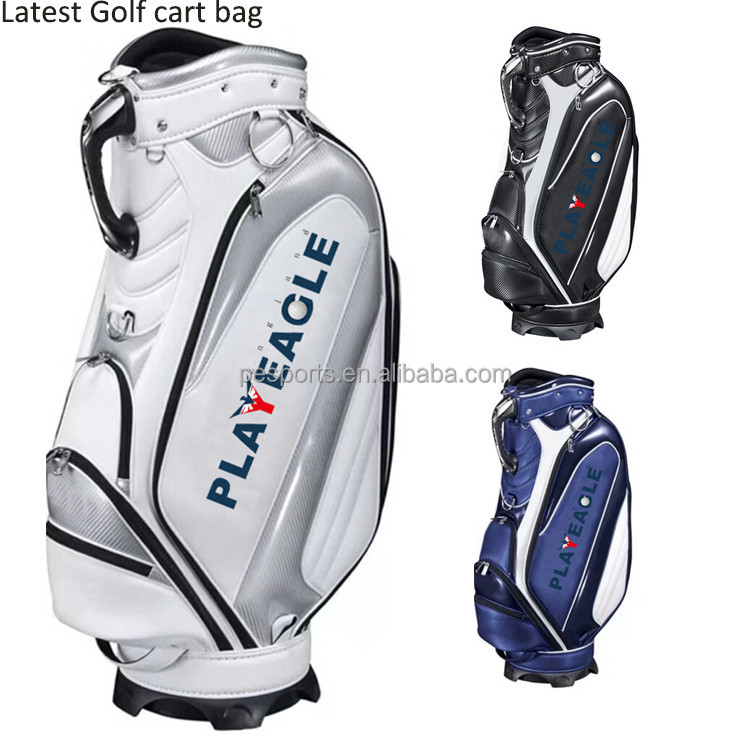 Latest golf bag High grand PU leather golf cart bag custom golf bag