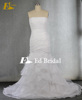 Custom Made Strapless Pleated Ruffles Beaded Organza Sexy Mermaid Wedding Dress Patterns