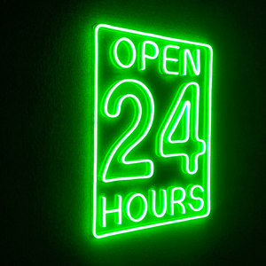 Injection digital number business hour led open sign