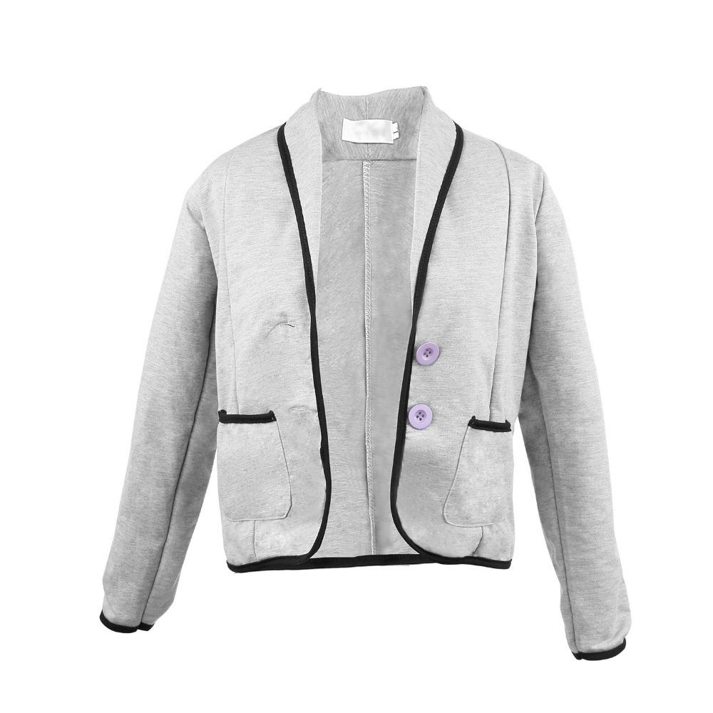 Тонкий женщины с длинным рукавом нагрудные свободного покроя топы джемпер блузку пальто и пиджаки