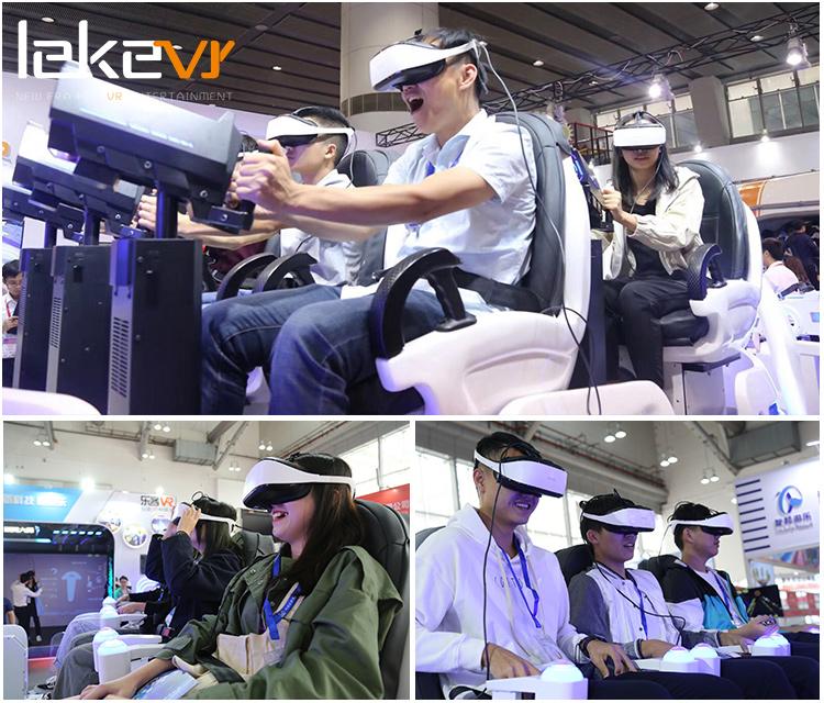 LEKE 6-مقعد 9D VR الأسرة ألعاب آلة ل السفينة الدوارة جولات ترفيهية