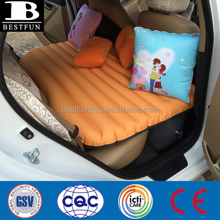 holiday travel high quality inflatable adult car air bed eco-friendly folding back seat extended mattress portable car airbes