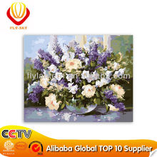 2015 Wholesale abstract purple flower diy paint by numbers (40*50cm)