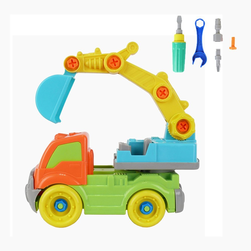 Take a Part Excavator Toy Kids Child Disassembly Car Toy Gift Construction Puzzle Toy for Children Early Education Toy Best Gift for Kids