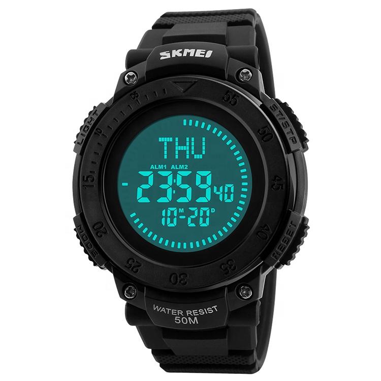 Skmei 1236 Digital Waterproof Multifunction Military Survival Compass Watch Mens фото