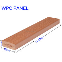 Recyclable Plastic Wooden Laminated Flooring WPC Wall Panel