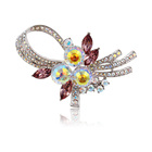 00031 guangzhou jewelry fashionable safety brooch pin magnet accessories for women jewelry Crystals from Swarovski