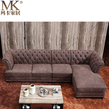 Alibaba Italian Chesterfield Corner Sofa Factory Direct Small Home Living Room Funiture