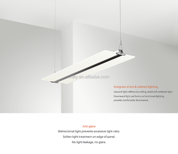 54W LED Panel Light Price Office Ceiling Light Fixture Suspended Mount  Totally Clear LGP Panel Light